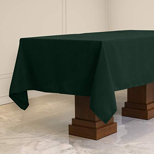 Kadut Rectangle Tablecloth (60 x 102 Inch) Rectangular Table Cloth for 6 Foot Table   Heavy Duty Fabric   Stain Proof Table Cloth for Parties, Weddings, Wrinkle-Resistant Table Cover   Hunter Green