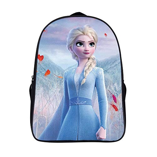 16.5 inches Backpackfor Frozen 2 fans, Elsa (12),Unisex School Bookbags, Cute Laptop Bag,waterproof Casual Travel Hiking Camping daypack for Boys Girls Kids