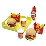 Jouets Ecoiffier – 957 - Plateau Hamburger 100 % Chef – Imitations d'aliments pour enfants – Dès 18 mois – Fabriqué en France