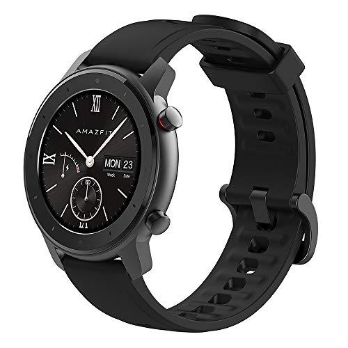 Amazfit GTR Lite 47mm Smartwatch, 24-Days Battery Life, 5 ATM Waterproof Ceramics Bezel, AMOLED Screen, 8-Sports Modes, International Version