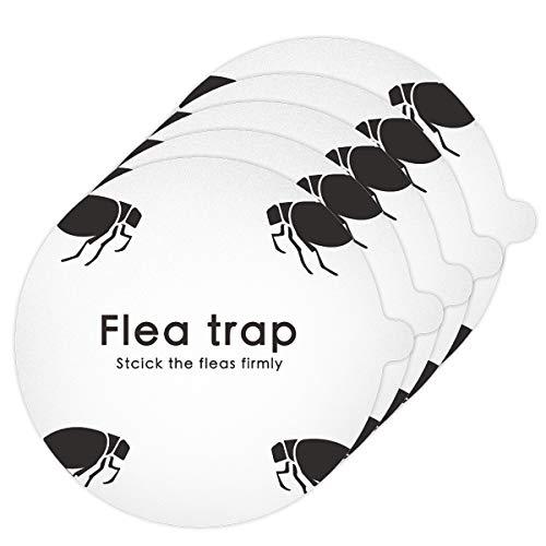 Ponacat 害虫捕獲粘着紙 粘着性ノミトラップ ステッカー付箋 使い捨て 粘着紙 ドームノミトラップ 取り替え ノミ駆除 捕虫器 害虫駆除 5ピース