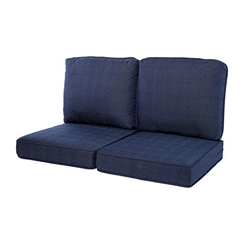 Quality Outdoor Living 29-BL02LV Loveseat Cushion, 44 x 25 4PC, Blue