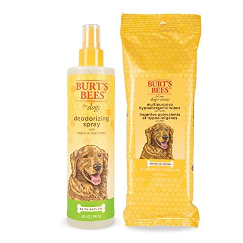 Burt's Bees For Dogs Multipurpose Hypoallergenic Grooming Wipes - Burts Bees Dog Deodorizing Spray,...