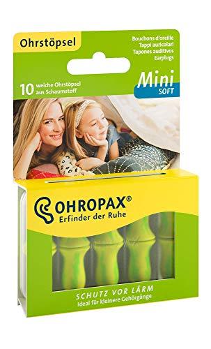 OHROPAX MINI SOFT - Anatomisch geformte In-Ear-Ohrstöpsel für den kleinen Gehörgang und für Kinder - aus Schaumstoff - zum Entspannen, Schlafen und Musikhören - 1 x 10 Stück