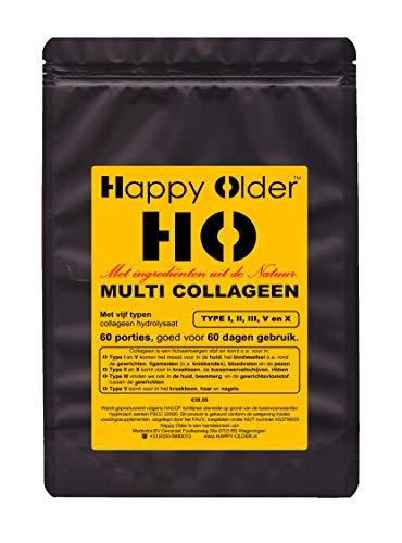 MULTI COLLAGEEN met Type 1, 2, 3, 5 & 10 collageen poeder voor 60 dagen. Totaal 600 gram poeder, inclusief maatschepje.