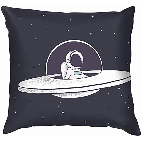 L'astronauta vola con Il Disco Volante Attraverso L'Universo Scienza Spaziale Tecnologia Aeronautica Cuscino Federa
