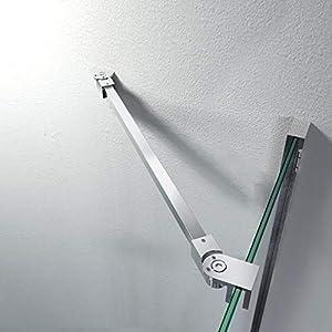 Barra estabilizadora de acero inoxidable, ángulo flexible, montaje en pared para cristales de 6 – 10 mm, cabina de ducha GS12475