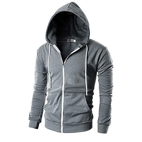 NOBRAND - Chaqueta de punto con capucha para hombre