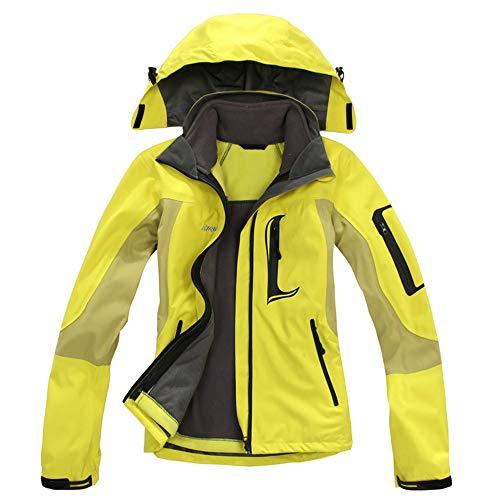 LoyFUN Combinaison de ski pour homme avec veste de ski de montagne imperméable coupe-vent et chaude pour les voyages, la randonnée, la course à pied, M