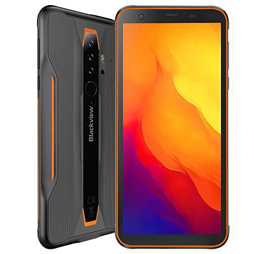 Blackview BV6300, Outdoor Smartphone Android 10, 3GB + 32GB, 13MP Quad-Kamera HD+, Wasserdichtes Stoßfestes IP68 Handy, 5,7\'\' HD +, NFC Ultra Dünn,Orange