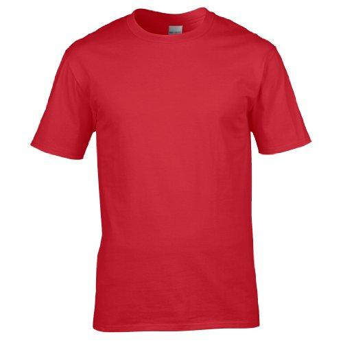 Gildan Premium T-Shirt für Männer (XL) (Rot) XL,Rot