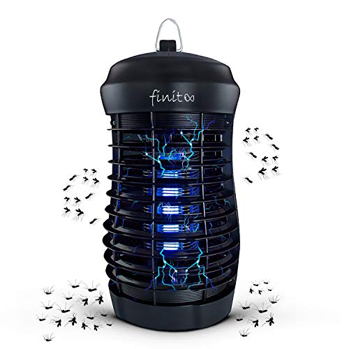 Finito - Electric Bug Zapper - Indoor, Electronic Mosquito Killer for Patio,Fly Zapper Lamp. Electric Insect Killer Trap Lamp for Garden, Backyard & Indoor Use 1,800V.