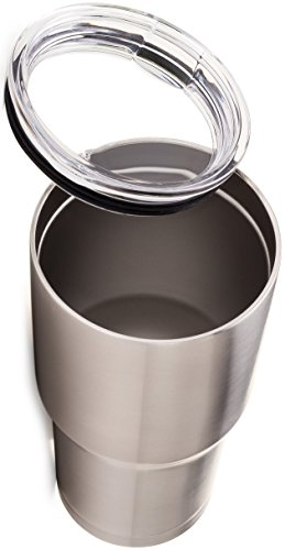 SERO Innovation 30 oz Stainless Steel Tumbler Mug with Splash Resistant Lid - Thermal Insulated, Double Walled and Vacuum sealed - Great cup for Coffee, Tea, Beer, Wine, Soda. For home and travel.