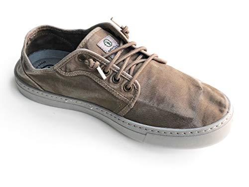 Natural World Eco - 6602E - Natural World Hombre - Zapatillas Hombre - Calzado Hombre - 100% EcoFriendly - Hecho en España (42, Marron)