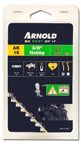 Arnold 1191-X1-0013 Sägekette 3/8 Zoll Hobby, 1.3 mm, 50 Treibglieder, 35 cm Schwert