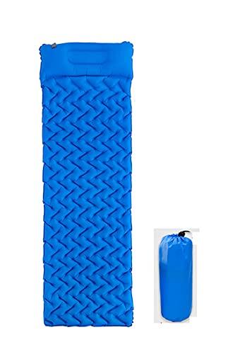 Esterilla Camping, Almohadilla para Dormir Inflable Individual portátil y Liviana para Caminar al Aire Libre (Blue)