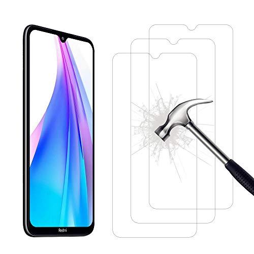 AHABIPERS 2 Stück Schutzfolie Panzerglas für Xiaomi Redmi Note 8T Panzerglas, HD Bildschirmschutzfolie, 9H Festigkeit Schutzfolie, Anti-Kratzer/Bläschen/Fingerabdruck/Staub Panzerglasfolie für Redmi Note 8T