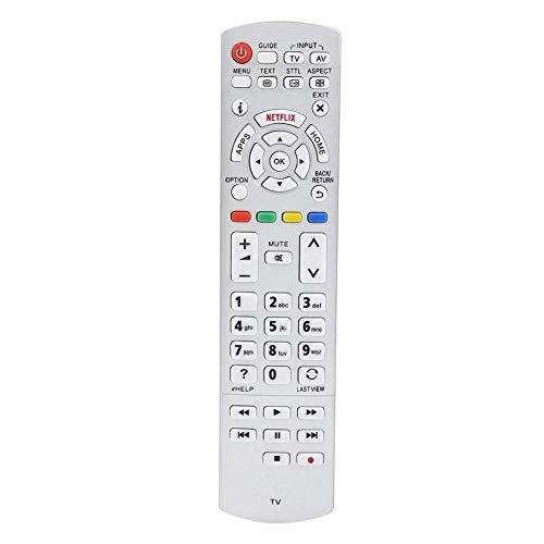 Mando a distancia de 1 pieza ABS Universal Smart TV Mando a distancia resistente al desgaste y duradero Mando a distancia de repuesto compatible con televisores Panasonic