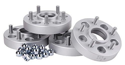 Hofmann Spurverbreiterung Aluminium 4 Stück (2x23 mm/2x30 mm) = 2 Achsen (46/60mm) inkl. TÜV-Teilegutachten~
