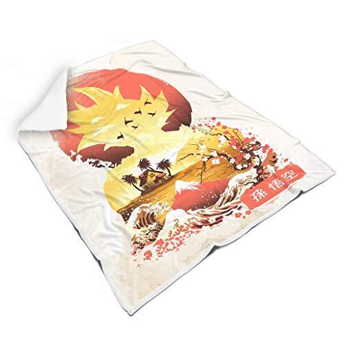 WellWellWell Dragon Goku-Ball Blanket Lightweight Bed Blanket Super Soft Cozy Travel Camping Blankets All Season Blankets Dorm Room Decoration Suitable Children White 50x60 inch