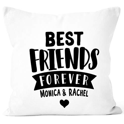 SpecialMe® Kissen-Bezug Best Friends Forever BFF Beste Freundin Kissen-Hülle Deko-Kissen Baumwolle weiß Unisize