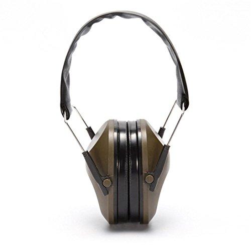 Gehörschutz Kapselgehörschutz, Taktische Schallisolierung Ear Protection Compact Faltbar und Komfortabel Schutzkopfhörer, Verstellbare Stirnband Kapsel Ohrenschützer für Männer Frauen (Armeegrün)