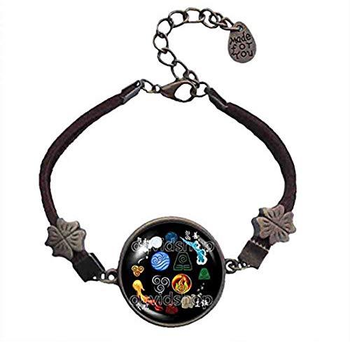 Handmade Fashion Elements Fire Water Tribe Earth Kingdom Air Nomads Art Symbol Avatar The Last Airbender Bracelet Legend of Korra Pendant Charm Cosplay