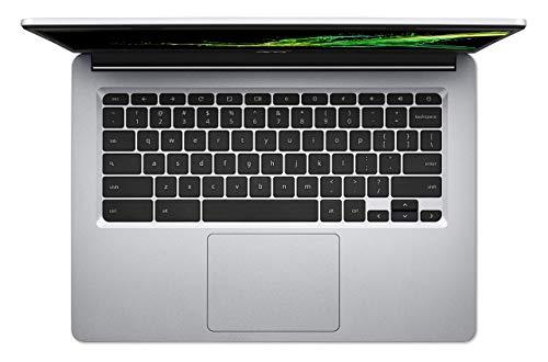 Acer Chromebook 314 Notebook (14 Zoll Full-HD IPS matt, 19,7mm flach, extrem lange Akkulaufzeit, schnelles WLAN, MicroSD Slot, Google Chrome OS) Silber