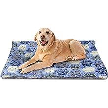 Nobleza Cama para Perros, colchoneta para Mascotas, Pata pequeña impresión paño Grueso y Suave Manta Suave Estera del Animal doméstico, Lavable (L,Azul)