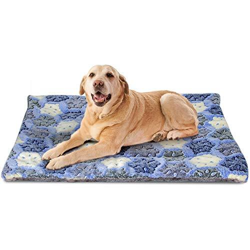 Nobleza Fleece Hundedecke Katzendecke Super Softe Warme und Weiche Hundematte für Kleine/mittlere/große Hunde Blau Größe: L 110 * 75CM