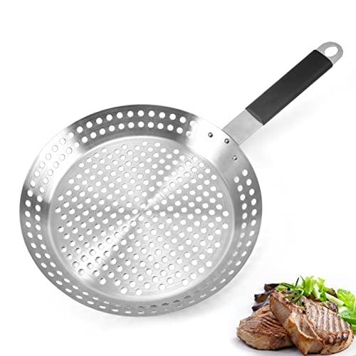 Grillpfanne Gelocht aus Edelstahl BBQ...