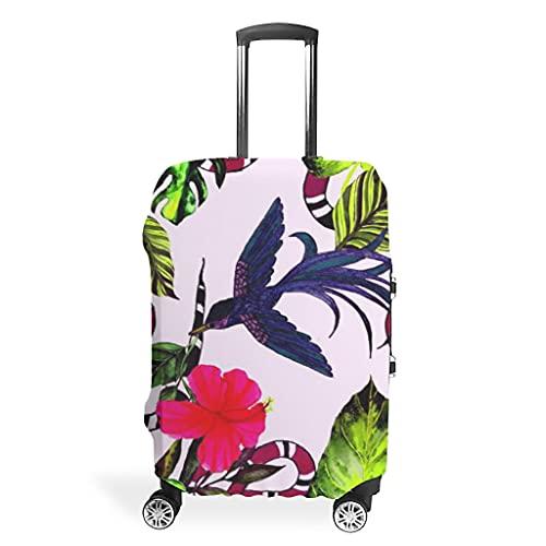 Funda protectora para maleta de viaje con diseño de plantas tropicales, animales, serpientes, pájaros, funda protectora para equipaje