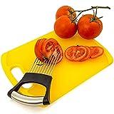 BUSI Cepillo de Cebolla Slicer de Acero Inoxidable Tomate Tomate Clip de Carne Rack Slicer Auxiliar Alimento Diez Garra