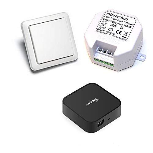 WiFi-fähiges Funkschalter-Set Intertechno Wandsender YWT-8500 mit CMR-1000