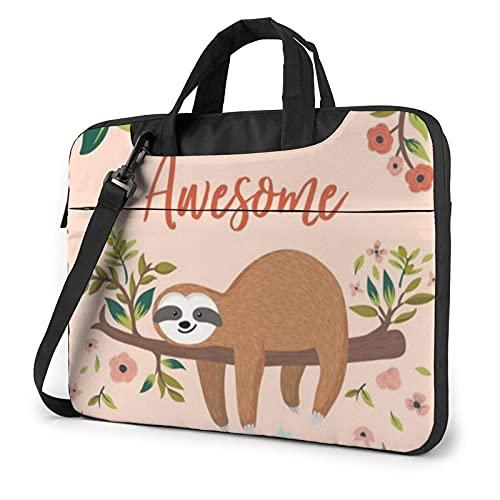You Are Awesome Sloth Funda para portátil de 13 Pulgadas y 15 Pulgadas Elegante Bolso de Neopreno para portátil