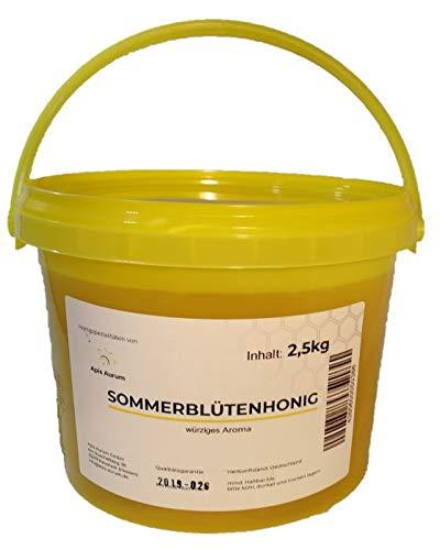 Deutscher Sommerblütenhonig - 2,5kg - Honig aus den Blüten des hessischen Sommers