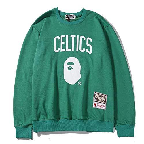Shelfin NBA Jerseys NBA - Jersey de cuello redondo para otoño e invierno, color Verde, tamaño XX-Large