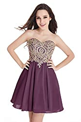 Junior's Mauve Applique embellished Lace Short Homecoming Dress