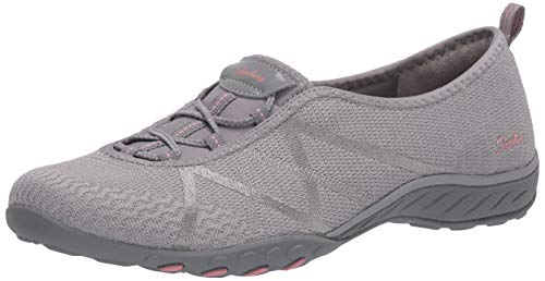Skechers Women's Breathe-Easy-A-Look Sneaker, Grey, 11 M US