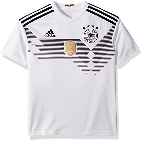 adidas Youth Germany 2018 Home Replica Jersey White/Black L