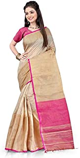 Fabattic Women's Silk Saree With Blouse Piece (CHI51_Multicolored)
