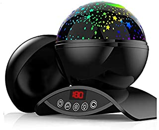 Pherunic Baby Star Night Light Projector, 2019 Newest Remote Control and Timer Design Projection Lamp, for Kids and Nursery (Black)