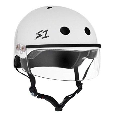 """S-ONE Lifer Visor CPSC - Multi-Impact Helmet - White Gloss w/Clear Visor (XXX-Large 23.5"""")"""