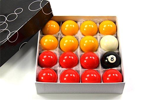 44mm by Funky Chalk 1 3//4 Inch Economy Spots /& Stripes Kids Pool Balls /& TRIANGLE Set