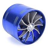 CFDYKRP Car Single Fan Air Intake Fuel Saver Fan Turbonator Intake Turbine Universal Tornado Turbo