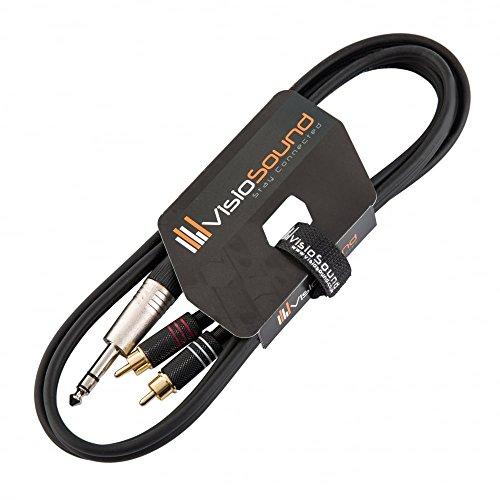 6,3mm Stereo Jack Klinke auf 2 x Cinch Stecker (RCA) Y-Audio-Kabel/Insert-Kabel 1.5m
