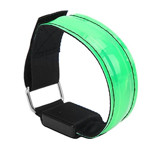 Pwshymi Armbelt LED para Exteriores Armbelt de celosía LED Rechargeale Lattice Light Banda de celosía Reflectante con Cable USB para Correr de Noche Ciclismo Caminar(Verde)
