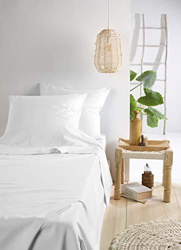 De Witte Lietaer Olivia beddengoed, satijn, katoen, gekamd, wit/wit, 280 x 280 cm + 2 kussenslopen