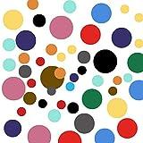 SAVITA 240 Piezas Pegatina de Pared Pastel Círculos, Adhesivos de Vinilo Autoadhesivos Redondos para Decoración de Dormitorio, Sala de Estar - 6 Tamaños, 14 Colores