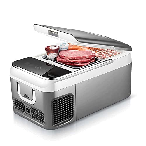 ERJIANG Mini refrigerador for dormitorios, Nevera de 12 voltios, Mini frigoríficos, Nevera eléctrica Fresca de 18/26 litros. Nevera for automóviles for dormitorios, oficinas, automóviles, Dormitorio